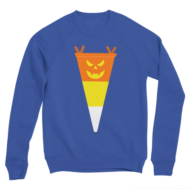 Candy Corn Pumpkin Men's Sponge Fleece Sweatshirt by Illustrations by Phil