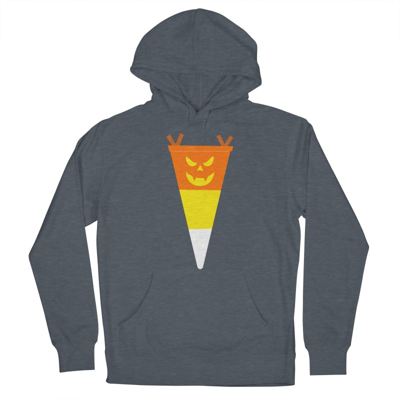 Candy Corn Pumpkin Women's French Terry Pullover Hoody by Illustrations by Phil