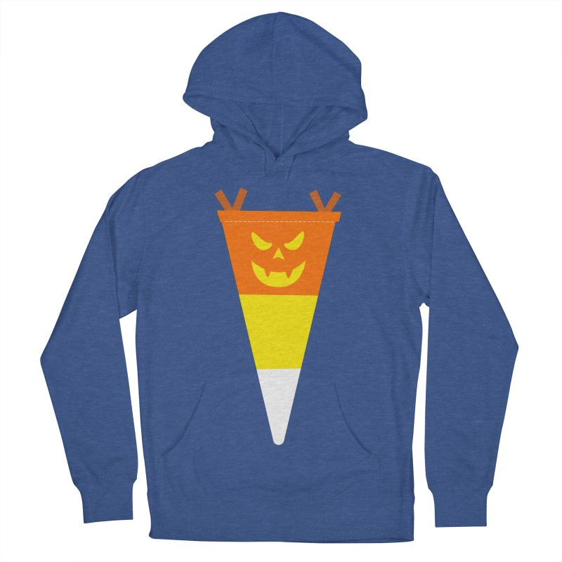 Candy Corn Pumpkin Men's French Terry Pullover Hoody by Illustrations by Phil