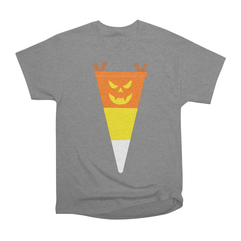 Candy Corn Pumpkin Men's Heavyweight T-Shirt by Illustrations by Phil