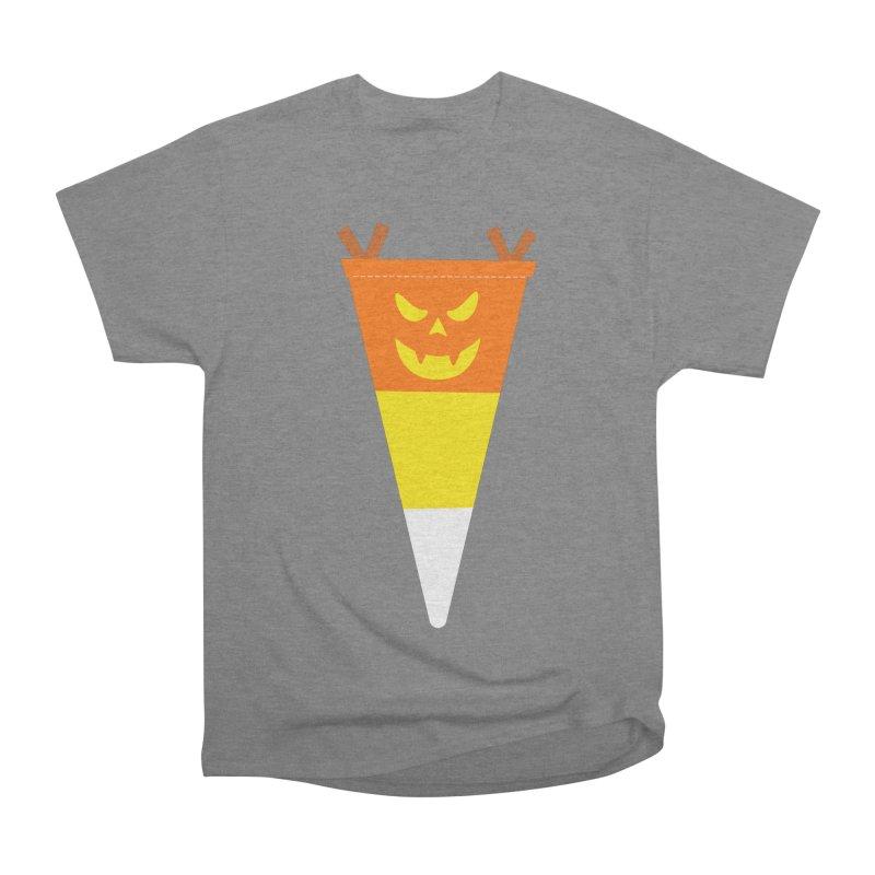 Candy Corn Pumpkin Women's Heavyweight Unisex T-Shirt by Illustrations by Phil