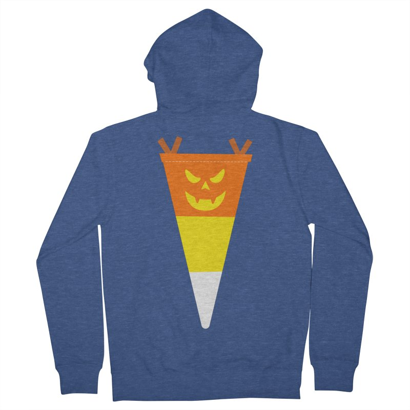 Candy Corn Pumpkin Women's French Terry Zip-Up Hoody by Illustrations by Phil