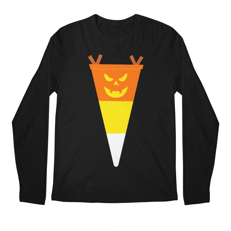 Candy Corn Pumpkin Men's Regular Longsleeve T-Shirt by Illustrations by Phil