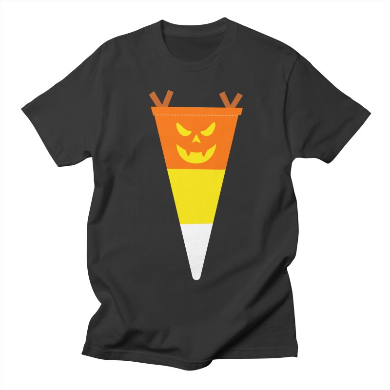Candy Corn Pumpkin Men's Regular T-Shirt by Illustrations by Phil