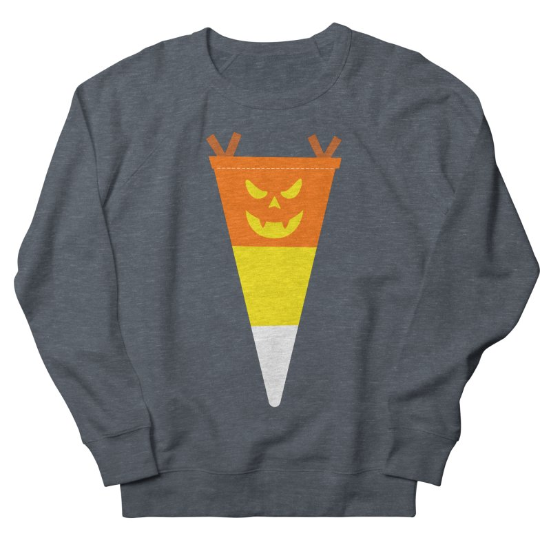 Candy Corn Pumpkin Women's French Terry Sweatshirt by Illustrations by Phil