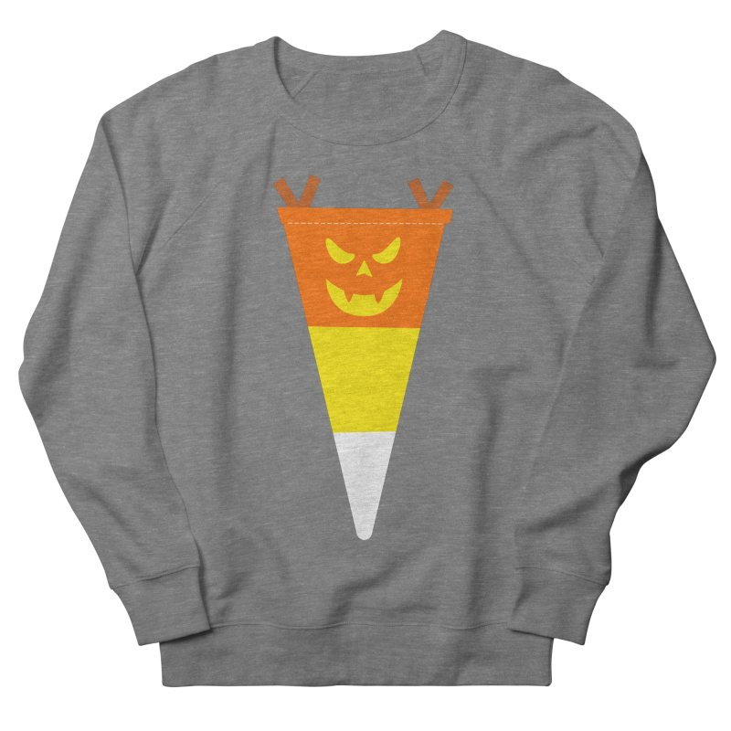 Candy Corn Pumpkin Men's French Terry Sweatshirt by Illustrations by Phil