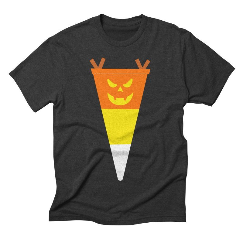Candy Corn Pumpkin Men's Triblend T-Shirt by Illustrations by Phil