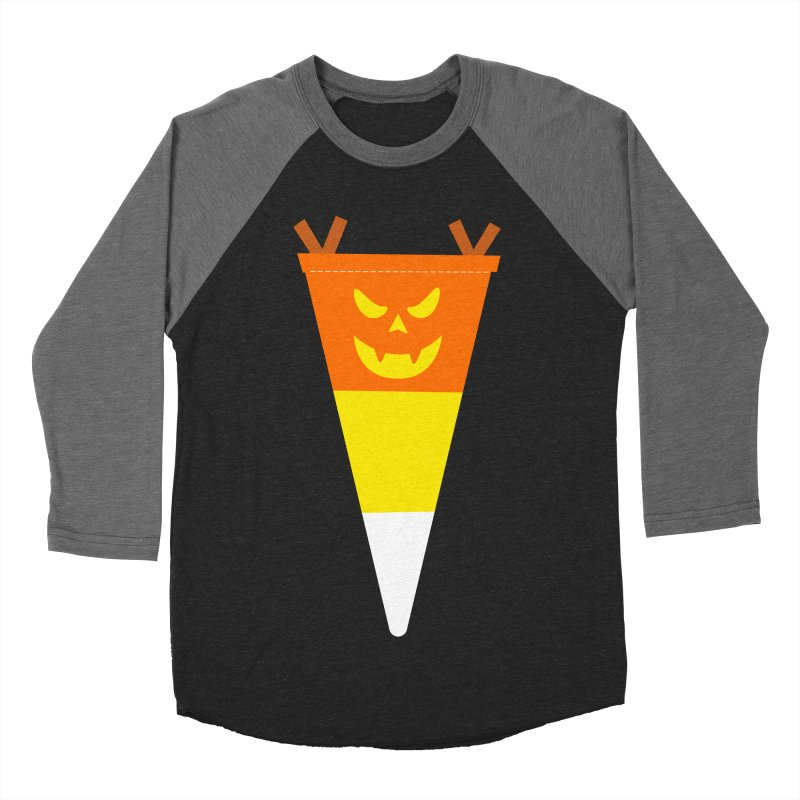 Candy Corn Pumpkin Men's Baseball Triblend Longsleeve T-Shirt by Illustrations by Phil