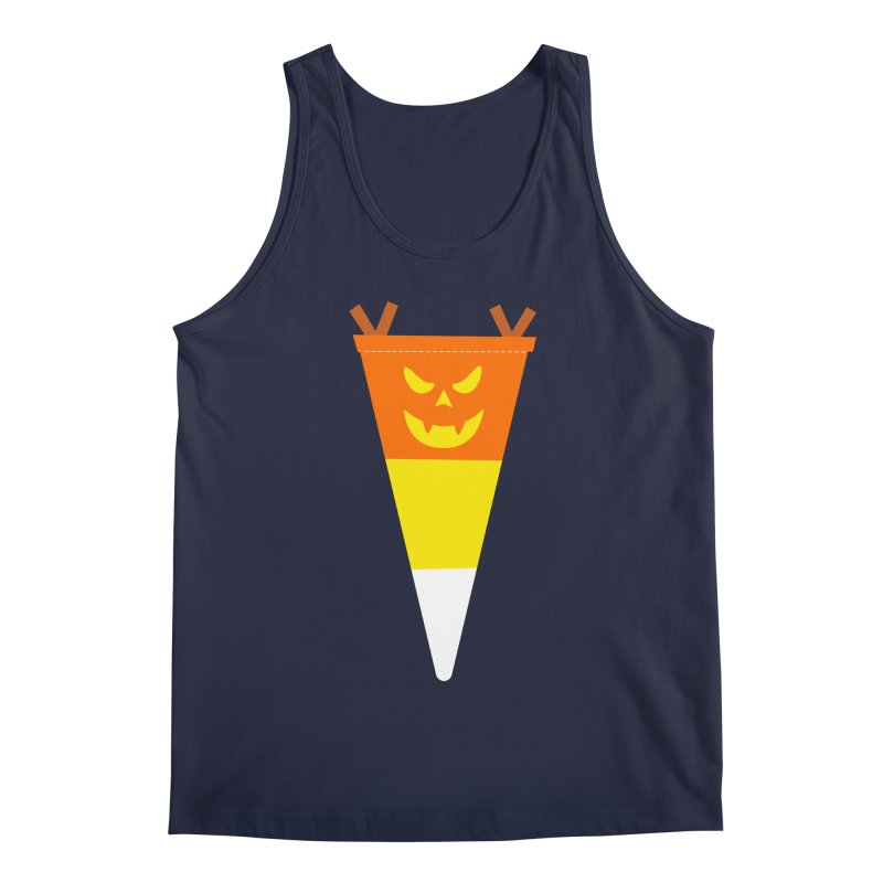 Candy Corn Pumpkin Men's Regular Tank by Illustrations by Phil