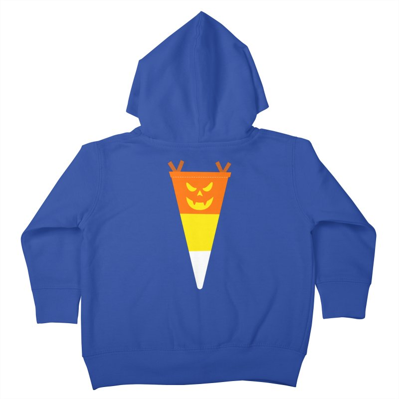 Candy Corn Pumpkin Kids Toddler Zip-Up Hoody by Illustrations by Phil