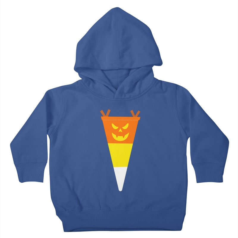 Candy Corn Pumpkin Kids Toddler Pullover Hoody by Illustrations by Phil