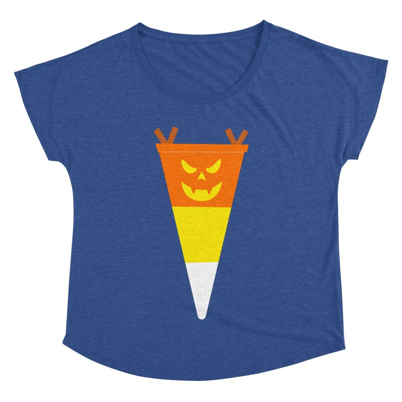 Candy Corn Pumpkin Women's Dolman Scoop Neck by Illustrations by Phil