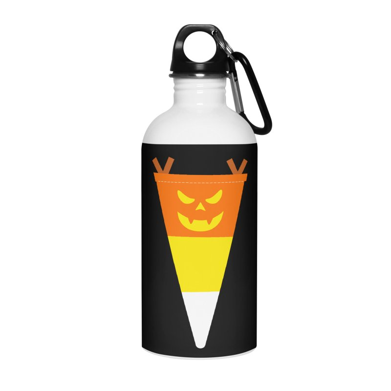 Candy Corn Pumpkin Accessories Water Bottle by Illustrations by Phil