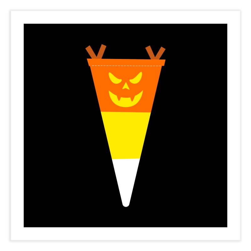 Candy Corn Pumpkin Home Fine Art Print by Illustrations by Phil
