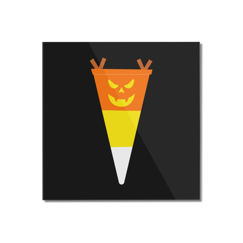 Candy Corn Pumpkin Home Mounted Acrylic Print by Illustrations by Phil