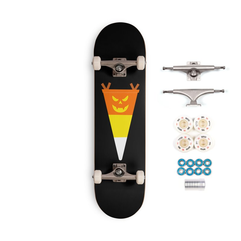 Candy Corn Pumpkin Accessories Complete - Premium Skateboard by Illustrations by Phil
