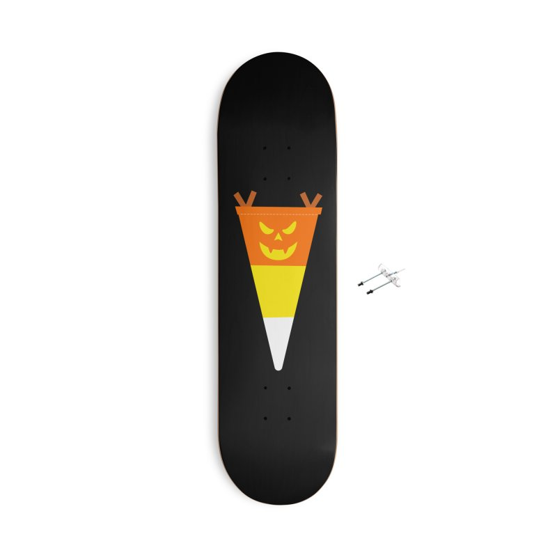 Candy Corn Pumpkin Accessories Skateboard by Illustrations by Phil