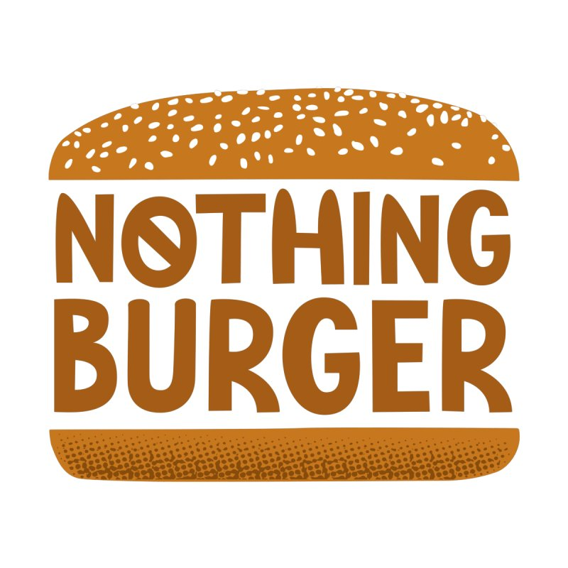 Nothing Burger Men's Zip-Up Hoody by Illustrations by Phil