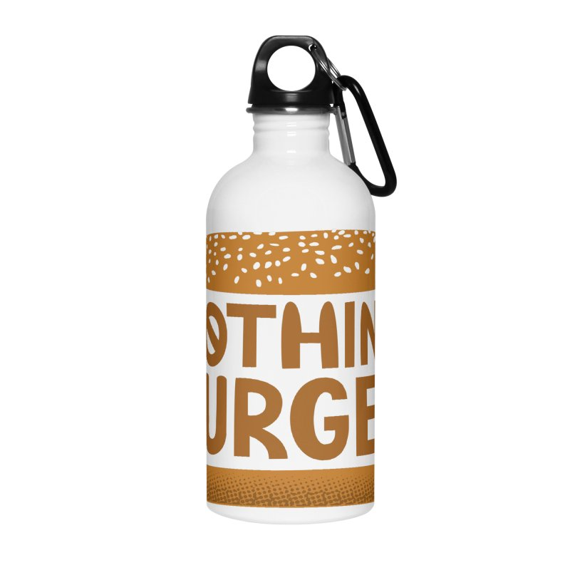 Nothing Burger Accessories Water Bottle by Illustrations by Phil