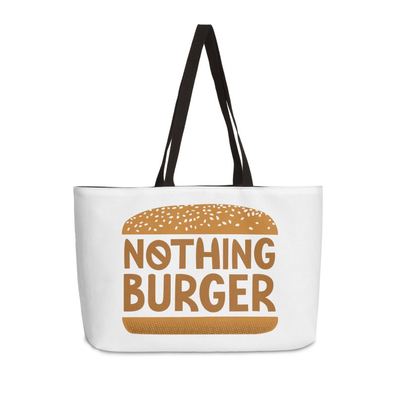 Nothing Burger Accessories Weekender Bag Bag by Illustrations by Phil