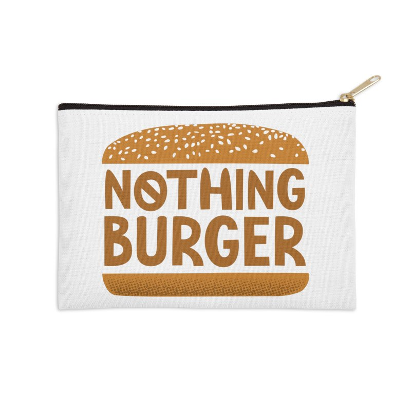 Nothing Burger Accessories Zip Pouch by Illustrations by Phil