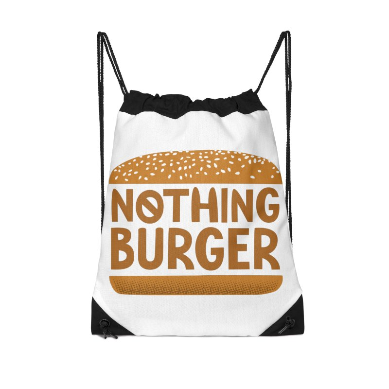 Nothing Burger Accessories Drawstring Bag Bag by Illustrations by Phil