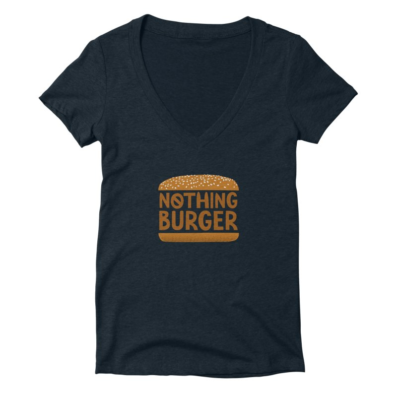 Nothing Burger Women's Deep V-Neck V-Neck by Illustrations by Phil