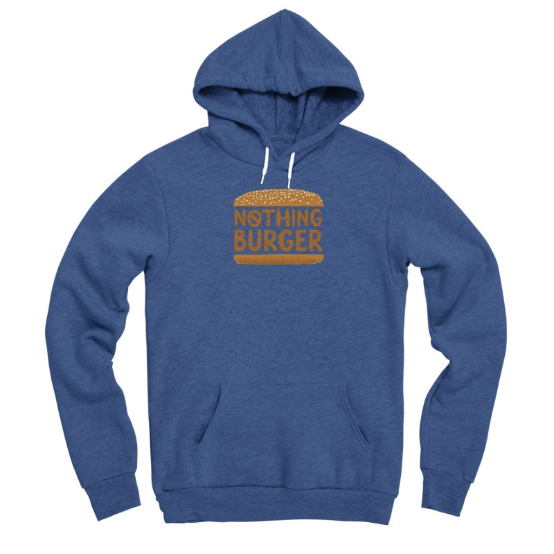 Nothing Burger Men's Sponge Fleece Pullover Hoody by Illustrations by Phil