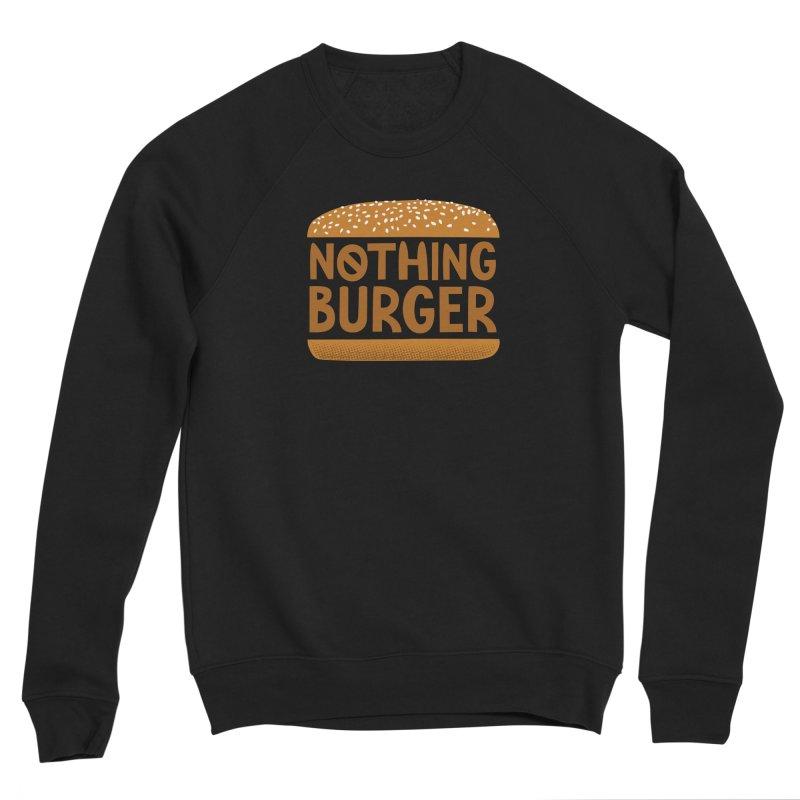 Nothing Burger Men's Sponge Fleece Sweatshirt by Illustrations by Phil
