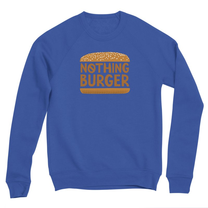 Nothing Burger Men's Sponge Fleece Sweatshirt by Illustrations by Phil