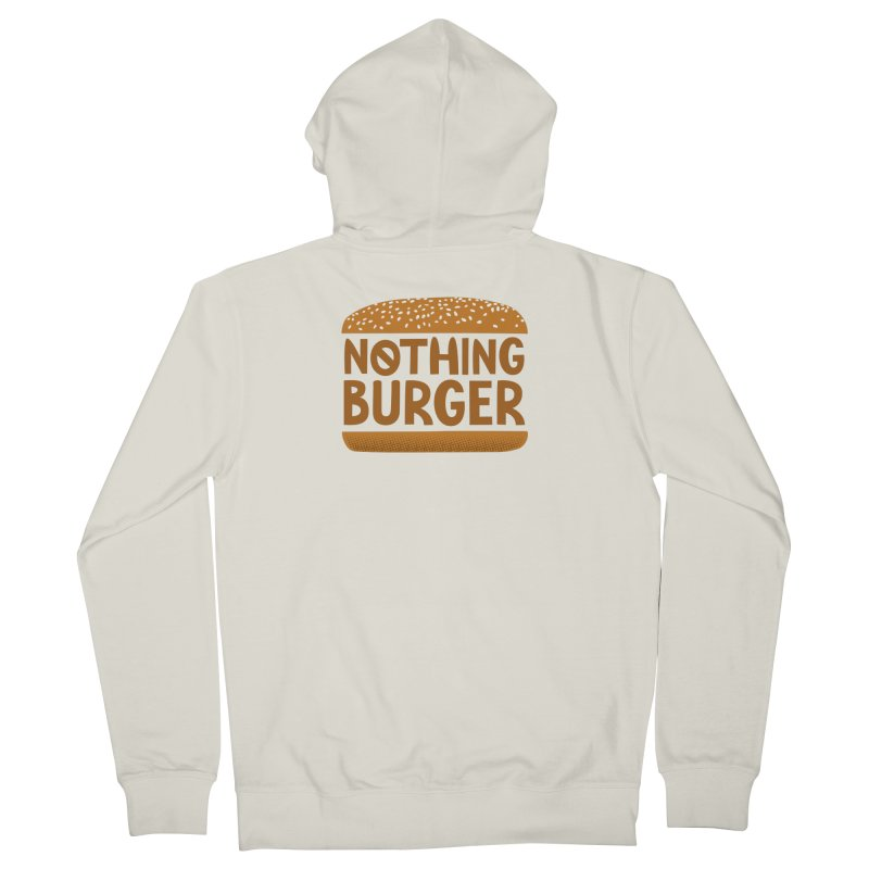 Nothing Burger Men's French Terry Zip-Up Hoody by Illustrations by Phil