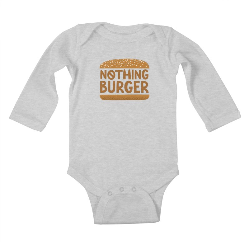 Nothing Burger Kids Baby Longsleeve Bodysuit by Illustrations by Phil