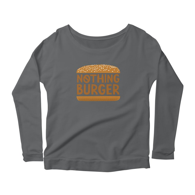 Nothing Burger Women's Scoop Neck Longsleeve T-Shirt by Illustrations by Phil