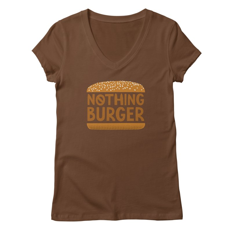 Nothing Burger Women's Regular V-Neck by Illustrations by Phil
