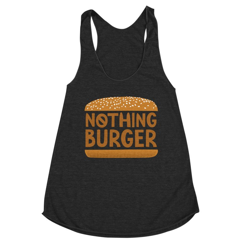 Nothing Burger Women's Racerback Triblend Tank by Illustrations by Phil
