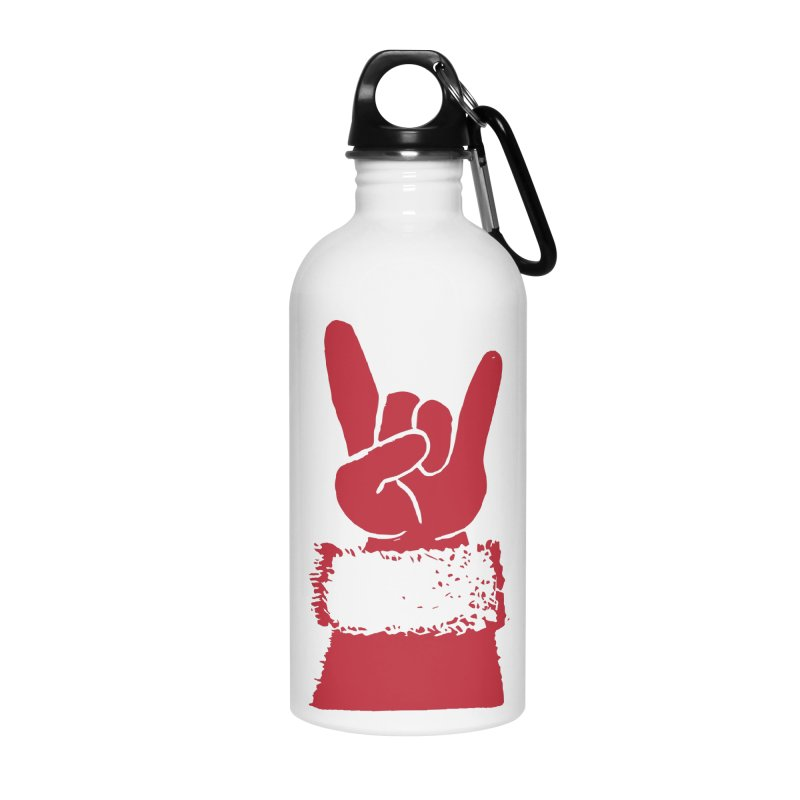 Hail Santa! Accessories Water Bottle by Illustrations by Phil