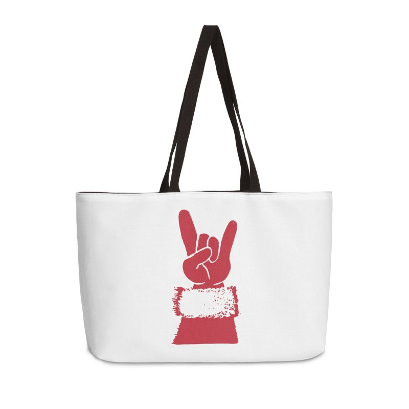 Hail Santa! Accessories Weekender Bag Bag by Illustrations by Phil