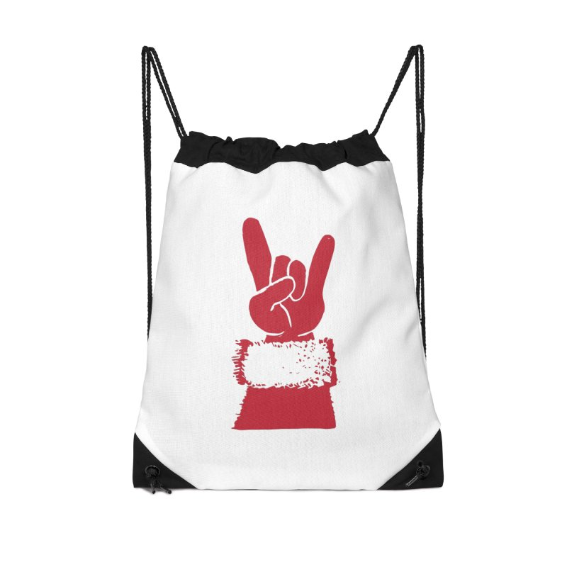 Hail Santa! Accessories Drawstring Bag Bag by Illustrations by Phil