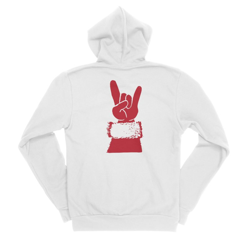 Hail Santa! Men's Sponge Fleece Zip-Up Hoody by Illustrations by Phil