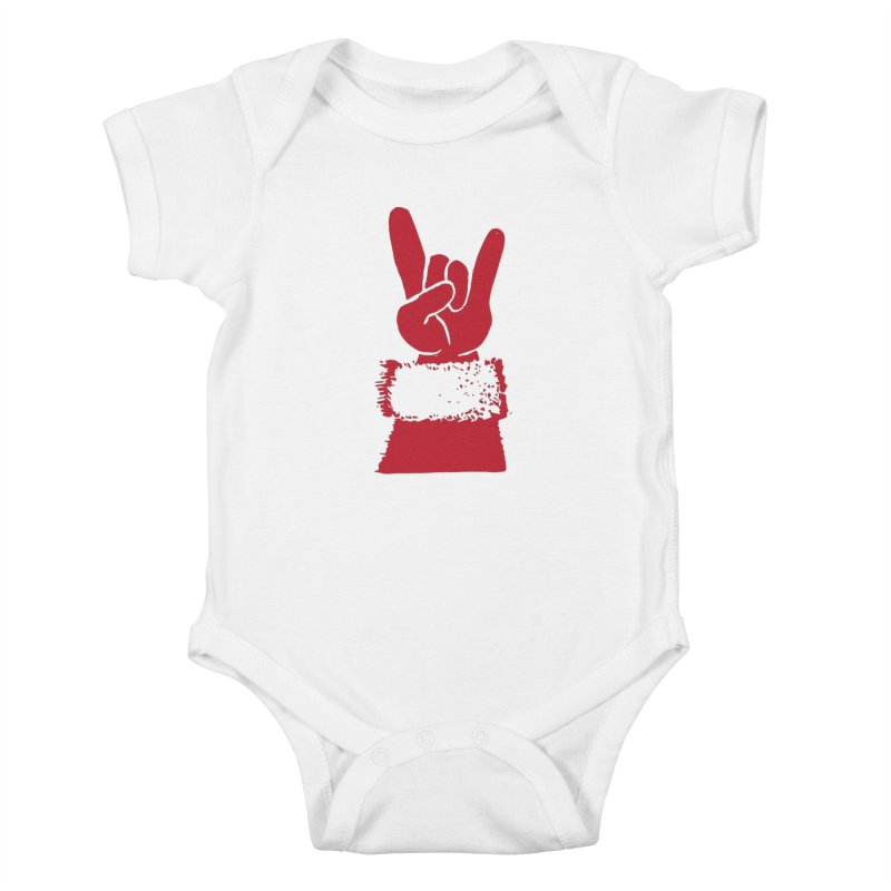Hail Santa! Kids Baby Bodysuit by Illustrations by Phil