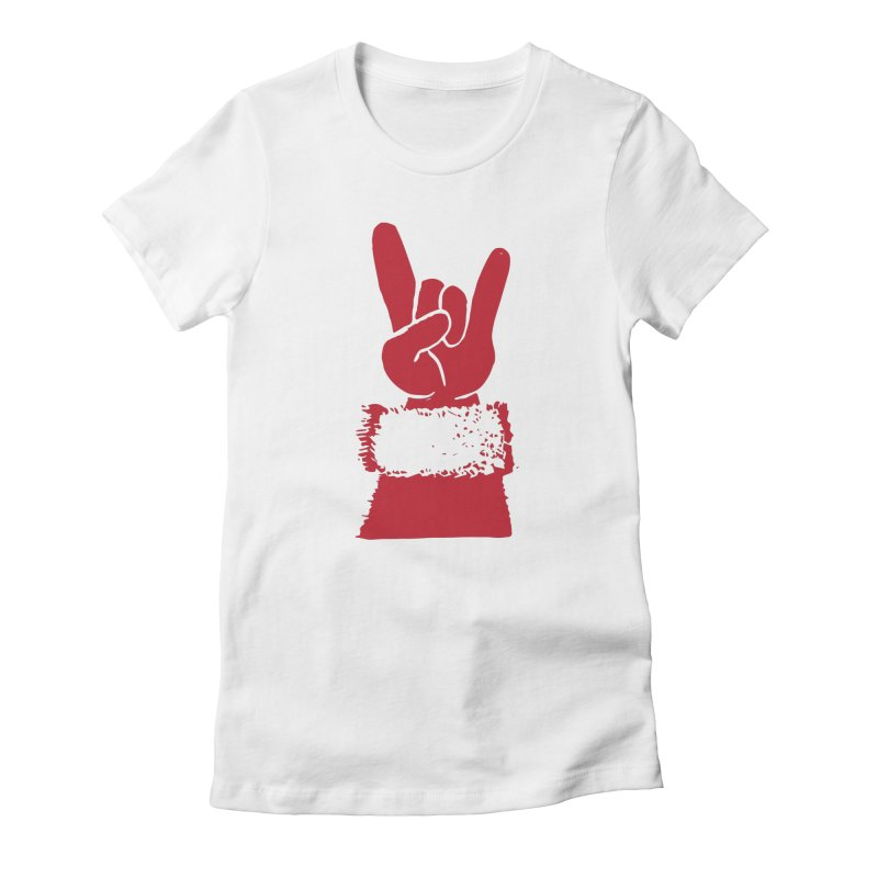 Hail Santa! Women's Fitted T-Shirt by Illustrations by Phil