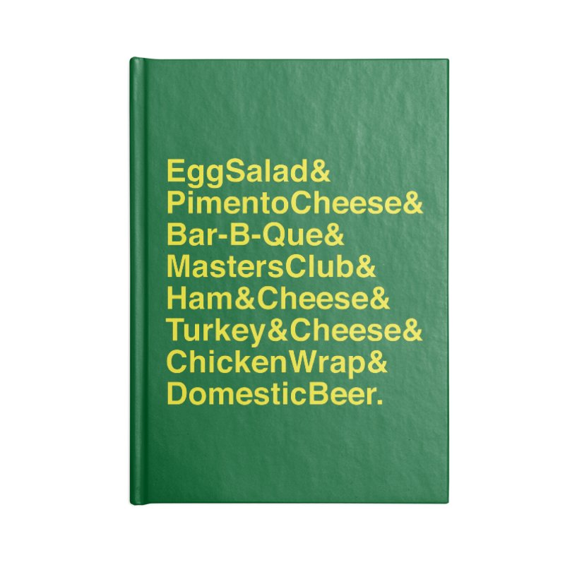 Golf Grub Accessories Notebook by Illustrations by Phil