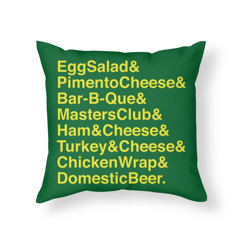 Golf Grub Home Throw Pillow by Illustrations by Phil