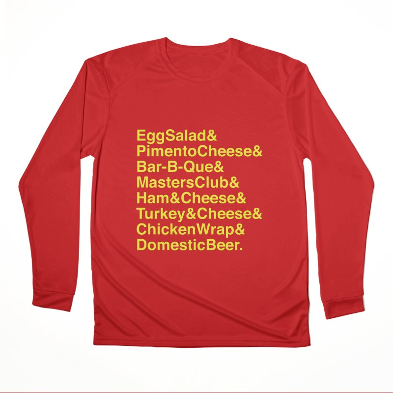 Golf Grub Men's Performance Longsleeve T-Shirt by Illustrations by Phil