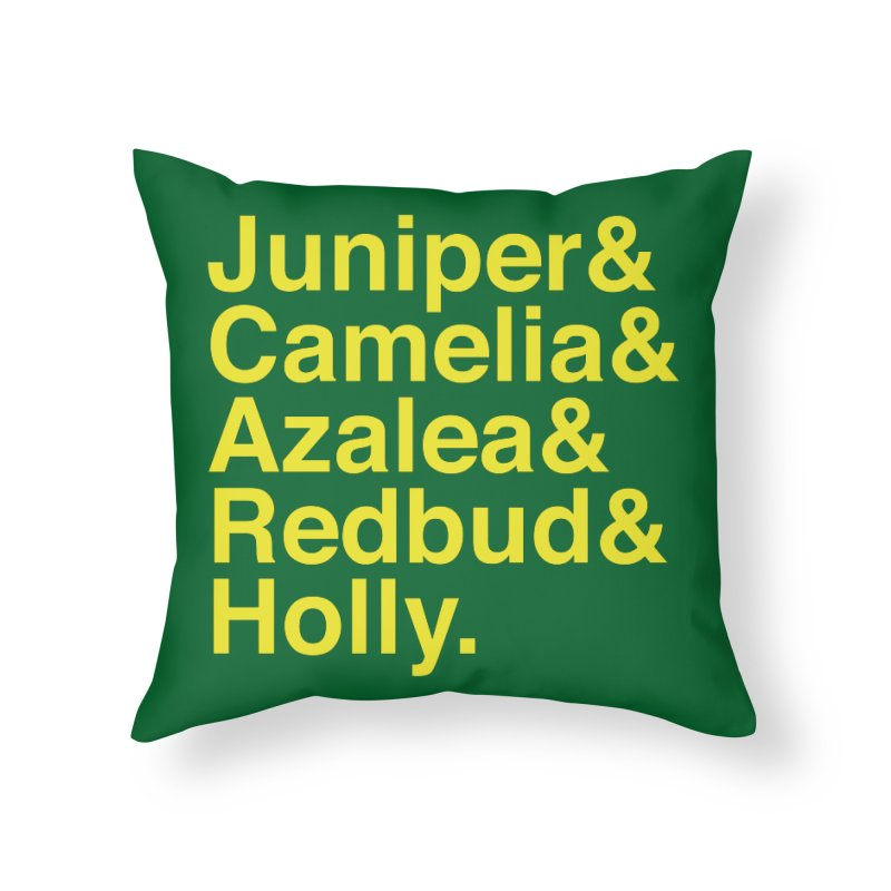 Favorite Holes Home Throw Pillow by Illustrations by Phil