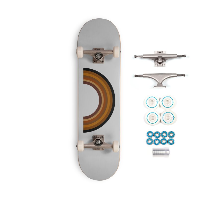 Brown Rainbow Accessories Skateboard by Illustrations by Phil