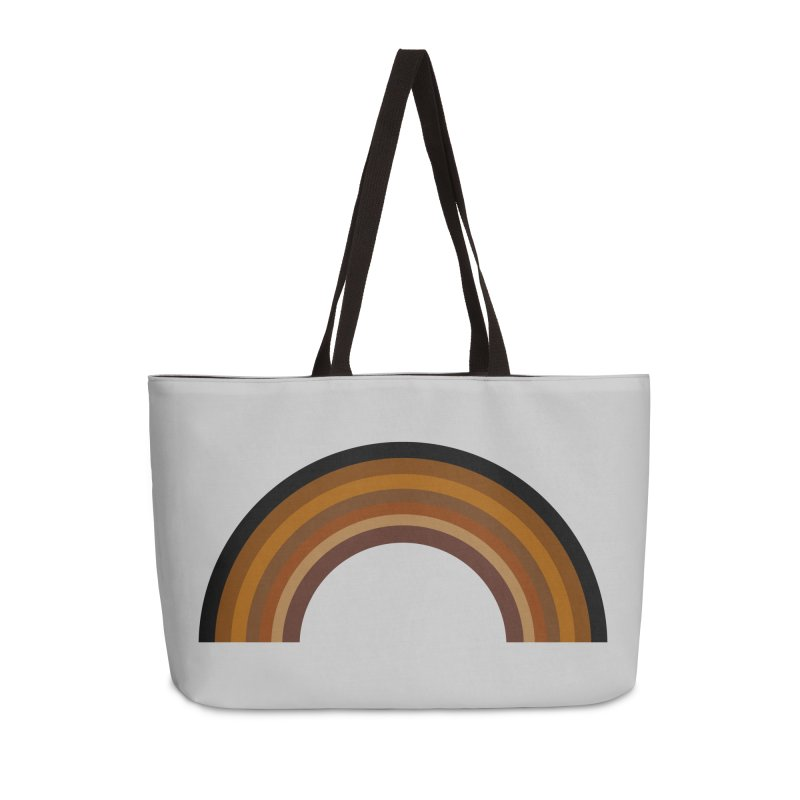 Brown Rainbow Accessories Bag by Illustrations by Phil