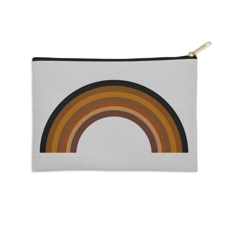 Brown Rainbow Accessories Zip Pouch by Illustrations by Phil