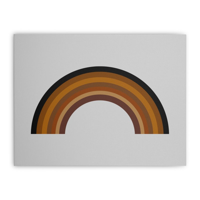 Brown Rainbow Home Stretched Canvas by Illustrations by Phil
