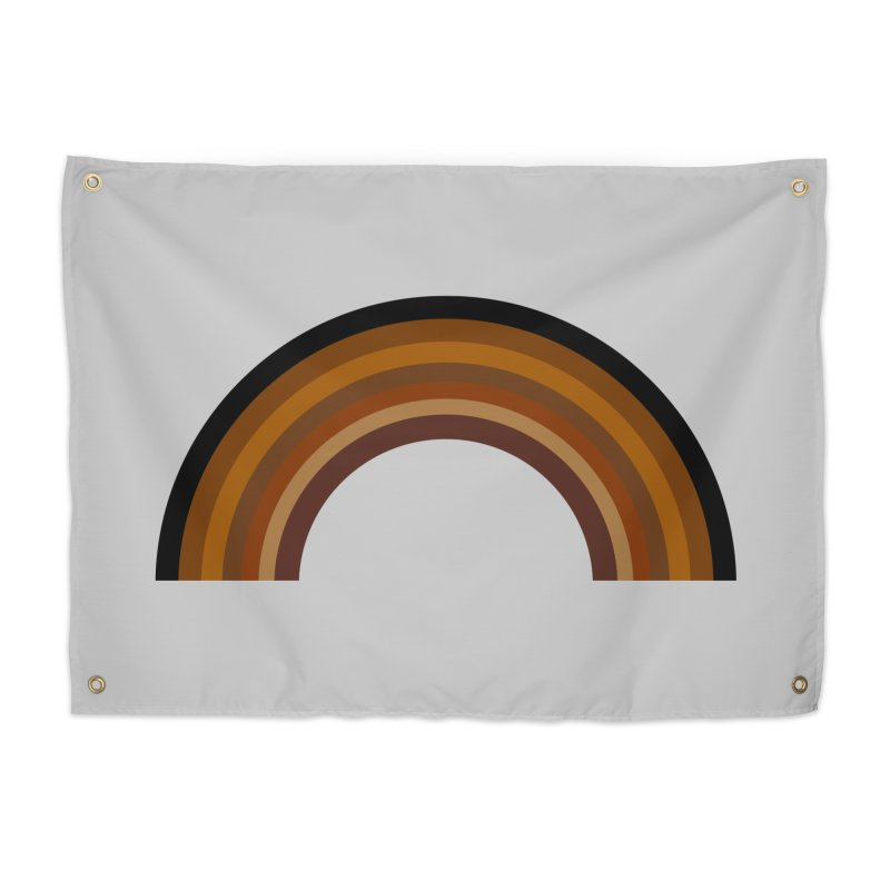 Brown Rainbow Home Tapestry by Illustrations by Phil